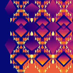Diamond Design Purple Orange Contrast