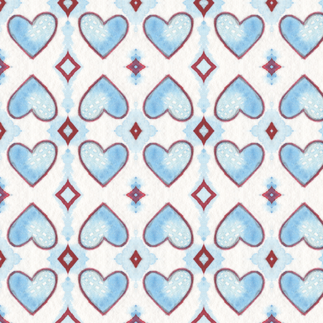 Hearts and Diamonds fabric by lilafrances on Spoonflower - custom fabric