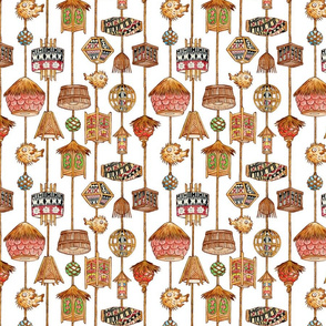 polynesian tiki_lamp_fabric__white_
