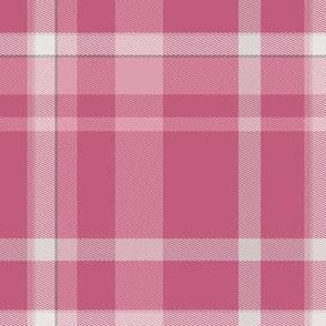 Warm Pink Tartan Plaid