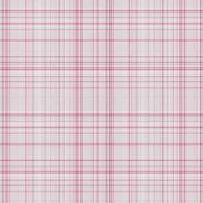 Pale Pink and Gray Plaid
