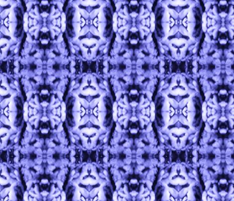 Magic Mushroom in Blue fabric by hollosination on Spoonflower - custom fabric