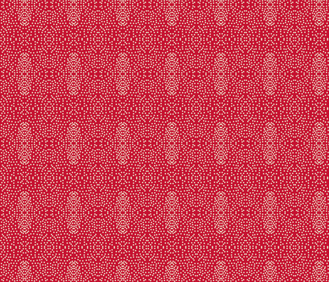 Pewter Pin Dot Patterns on Poppy Red fabric by rhondadesigns on Spoonflower - custom fabric