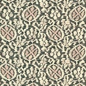 Kutsuwa Vine - slate, ivory, pink
