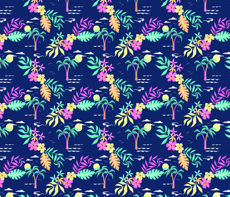 Hawaiian Shirt Fabric Laura May Designs Spoonflower