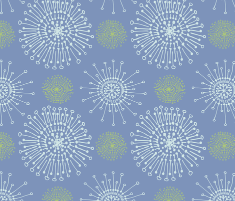 dandelion_periwinkle_pinch fabric by teresamagnuson on Spoonflower - custom fabric