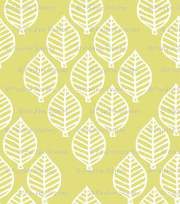 diamond leaf - pale chartreuse