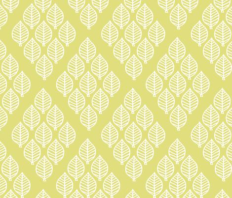 diamond leaf - pale chartreuse fabric by rarebirddesignco on Spoonflower - custom fabric