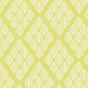 diamond leaf - pale chartreuse