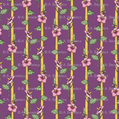 Hibiscus Stripes - Purple