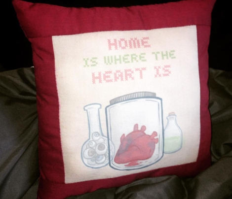 Heart Jar Cushion Swatch