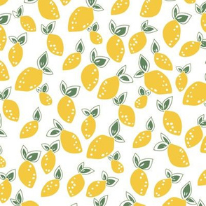Summer lemons in yellow