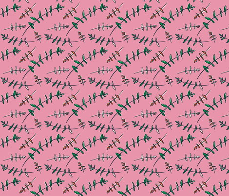 Eucalyptus - Pink fabric by khubbs on Spoonflower - custom fabric