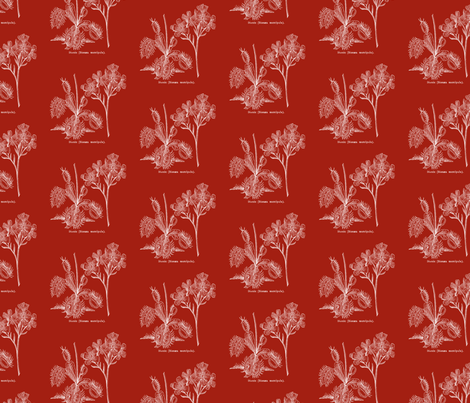 Flytrap dark - red fabric by thecalvarium on Spoonflower - custom fabric