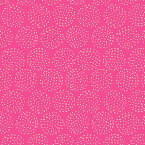 Dotted Circles in Hot Pink