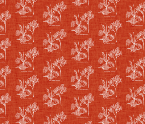 Flytrap linen - red fabric by thecalvarium on Spoonflower - custom fabric
