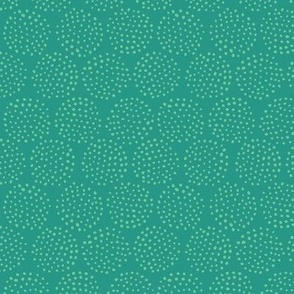 Dotted Circles in Dark Teal