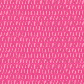Dashed Stripe in Hot Pink