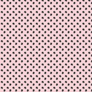 Black Watercolour Polka Spot