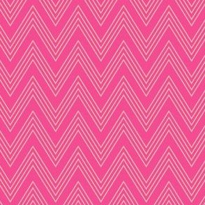 Ups & Downs Chevron in Hot Pink