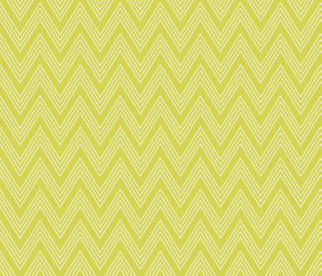 Ups & Downs Chevron in Celery Green fabric by shannonmcnab on Spoonflower - custom fabric