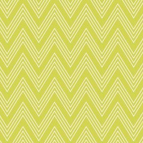 Ups & Downs Chevron in Celery Green