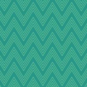 Ups & Downs Chevron in Dark Teal