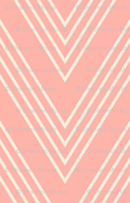 Ups & Downs Chevron in Rose Pink
