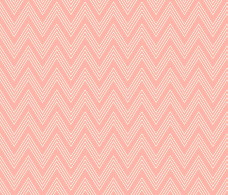 Ups & Downs Chevron in Rose Pink fabric by shannonmcnab on Spoonflower - custom fabric