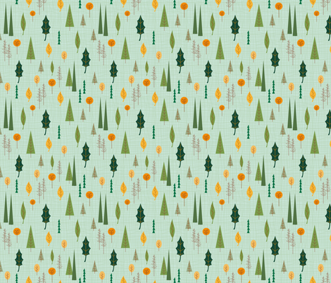 Tiny Forest fabric by bags29 on Spoonflower - custom fabric