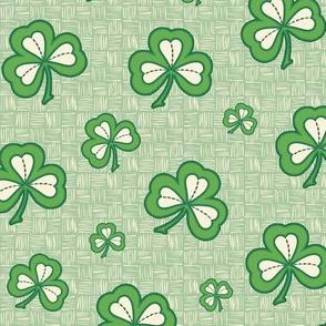 Happy Shamrocks Green