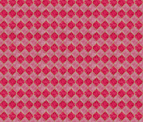 Rose & Faux Gold Quatrefoil - Seamless - Small fabric by samalah on Spoonflower - custom fabric