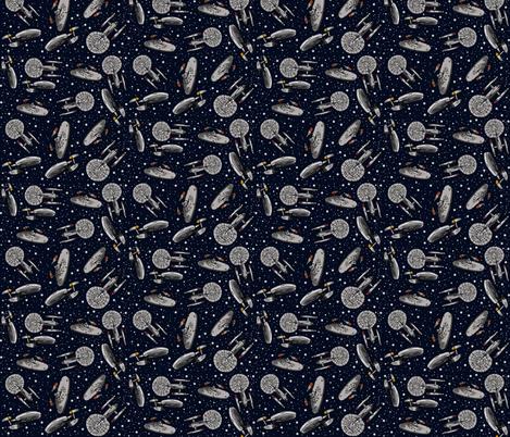 Dark Trekking fabric by sharksvspenguins on Spoonflower - custom fabric