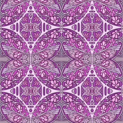 Purple is as Purple Does fabric by edsel2084 on Spoonflower - custom fabric