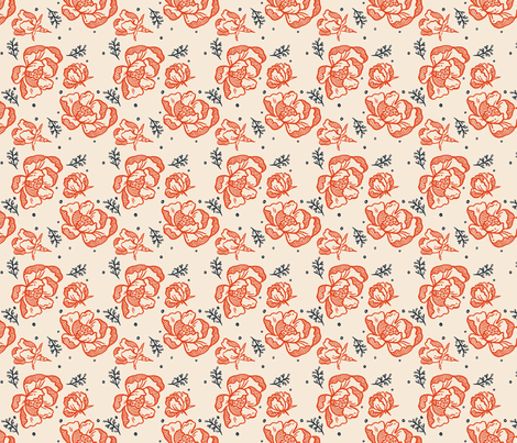 Red Blossoms Small fabric by khubbs on Spoonflower - custom fabric