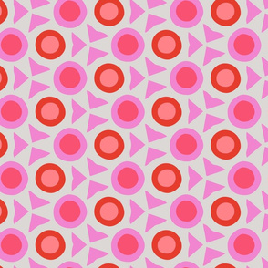 Pink Abstract Dots Geometric