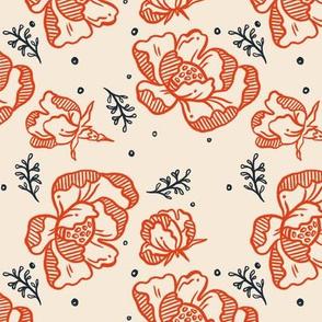 Red Blossoms - Medium