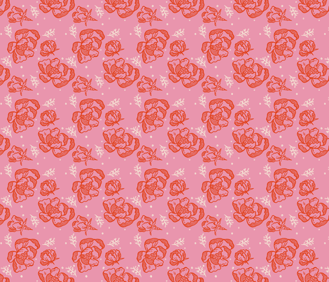 Red Blossom Pink - Small fabric by khubbs on Spoonflower - custom fabric