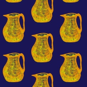 Jugs of Citrus Juice on Evening Sky Blue - Medium Scale