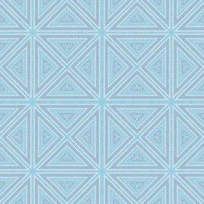 Light Blue Triangles and Squares Geometric