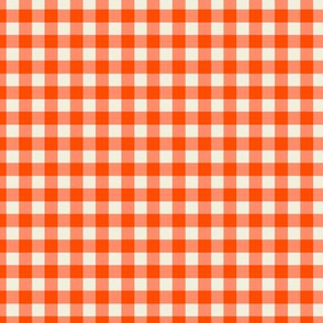 Funhouse Gingham in Cherry Red
