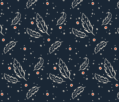 Leafy Dots - Large fabric by khubbs on Spoonflower - custom fabric
