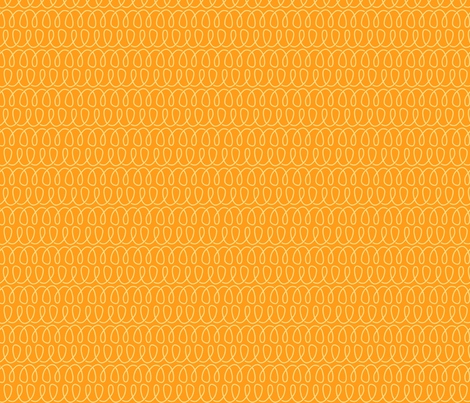 Curly Cues in Citrus Orange fabric by shannonmcnab on Spoonflower - custom fabric