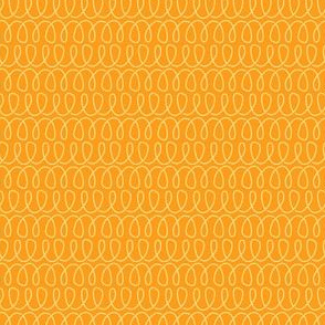 Curly Cues in Citrus Orange