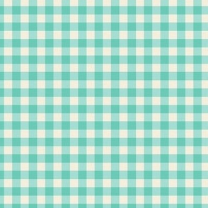 Funhouse Gingham in Aqua