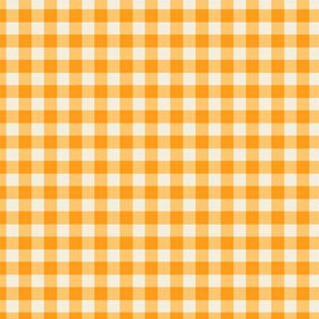 Funhouse Gingham in Citrus Orange