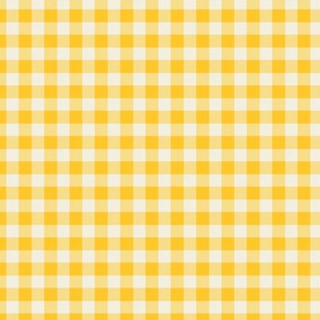 Funhouse Gingham in Lemon Yellow