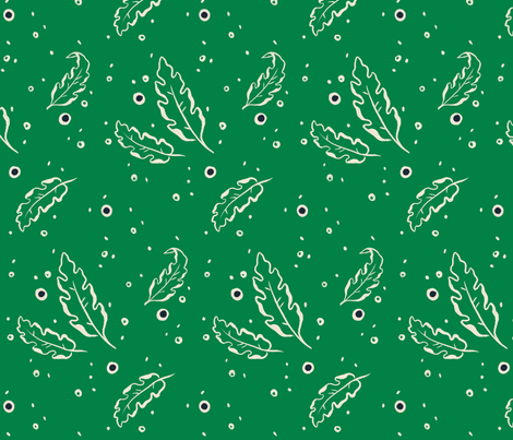 Leafy Dots Green - Large fabric by khubbs on Spoonflower - custom fabric