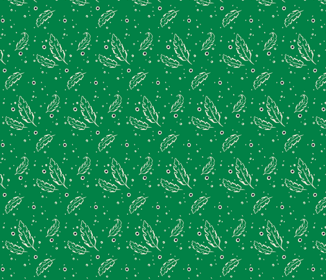 Leafy Dots Green Small fabric by khubbs on Spoonflower - custom fabric