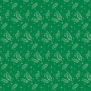 Leafy Dots Green Small